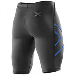 【2XU】運動款男用70丹機能壓縮短褲(黑藍)