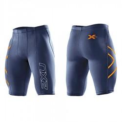 【2XU】運動款男用70丹機能壓縮短褲(藍橘)