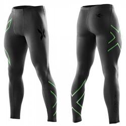 【2XU】運動款男用70丹機能壓縮長褲(雙色綠)