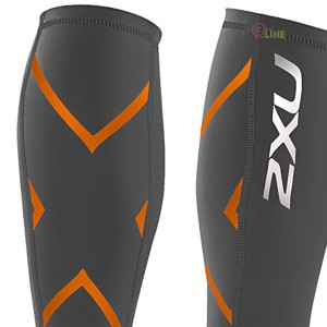 【2XU】16年新款70丹機能壓縮小腿套(灰/橘)
