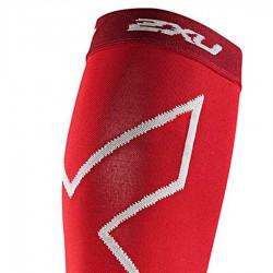 【2XU】高丹數105丹跑步壓縮小腿套(紅色)