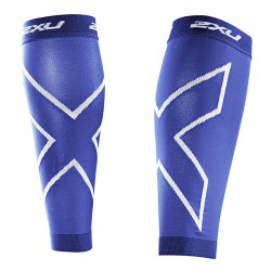 【2XU】高丹數105丹跑步壓縮小腿套(藍色)
