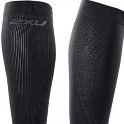 【2XU】跑步專用雙色系70丹壓縮小腿套(黑)