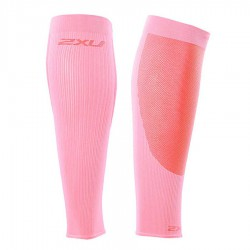 【2XU】跑步專用雙色系70丹壓縮小腿套(粉紅)