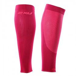 【2XU】跑步專用雙色系70丹壓縮小腿套(桃紅)