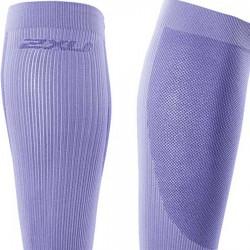 【2XU】跑步專用雙色系70丹壓縮小腿套(紫)