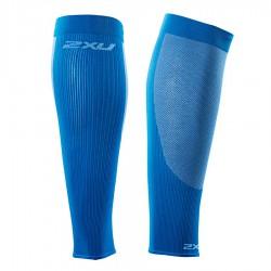 【2XU】跑步專用雙色系70丹壓縮小腿套(藍)
