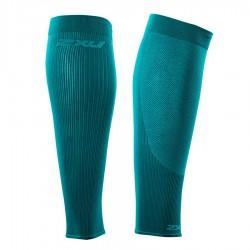 【2XU】跑步專用雙色系70丹壓縮小腿套(綠)