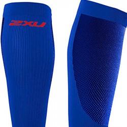 【2XU】跑步專用雙色系70丹壓縮小腿套(藍/紅)