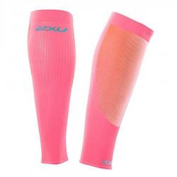 【2XU】跑步專用雙色系70丹壓縮小腿套(粉紅/藍)