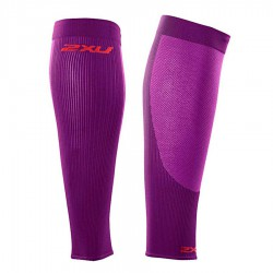 【2XU】跑步專用雙色系70丹壓縮小腿套(紫紅)
