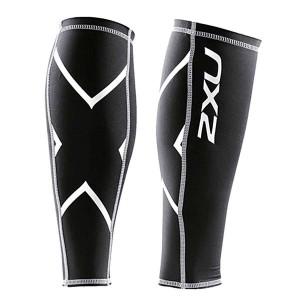 【2XU】經典款70丹機能壓縮小腿套(黑)