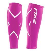 【2XU】經典款70丹機能壓縮小腿套(桃紅)