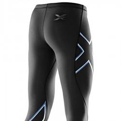 【2XU】運動款女用70丹雙色壓縮長褲(雙色粉藍)