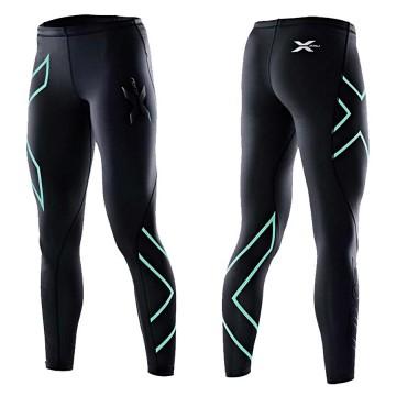 【2XU】運動款女用70丹壓縮長褲(黑粉綠)
