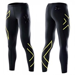 【2XU】運動款女用70丹壓縮長褲(黑黃)