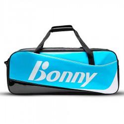 【BONNY】1TB17008黑藍 自由侠閃亮鏡面6支裝矩型拍包