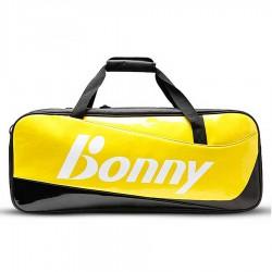 【BONNY】1TB17009黑黃 自由侠閃亮鏡面6支裝矩型拍包