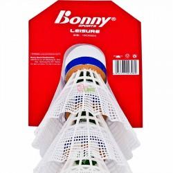 【BONNY】三粒裝尼龍休閒羽毛球(類似軟木球頭)