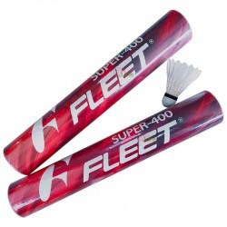 【FLEET】富力特SUPER-400新練習級羽毛球(紅色筒)