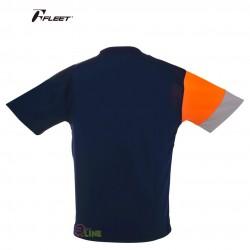 【FLEET】富力特TC-554深藍不對稱三色羽球排汗T
