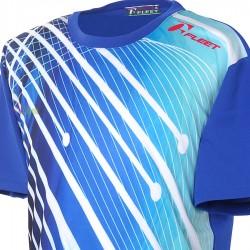 【FLEET】富力特TC-5161科技藍吸濕排汗轉印羽球潮T
