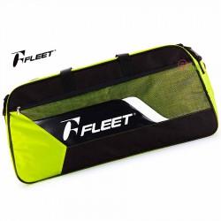【FLEET】富力特CB-028螢黃時尚簡約12支裝矩型拍包(側背)