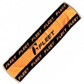 【FLEET】ST- 412黑橘 加厚加長品牌運動毛巾(長120cm)