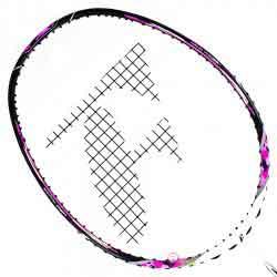 【FLEET】富力特LINK-502破風拍框迷彩粉紅4U穿線羽球拍