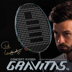 【GOSEN】GRAVITAS 9.0SX C.L.黑 更快更平穩快速揮拍4U攻防羽球拍