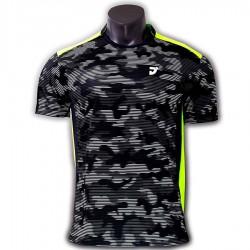 【JNICE】久奈司JP-741-BK黑 3D立體呼吸小立領羽球排汗衫
