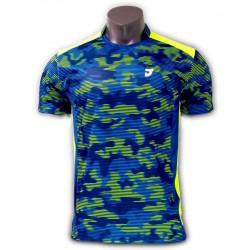 【JNICE】久奈司JP-741-BL藍 3D立體呼吸小立領羽球排汗衫