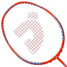 【JNICE】Ultra Aero鋒速10橘 破風拍框低風阻4U輕量穿線羽球拍