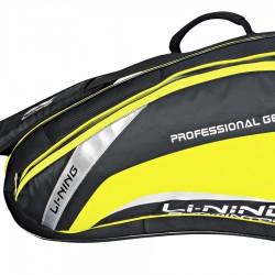 【LI-NING】李寧ABJL002-2立體多功能六支裝黑黃羽球拍包