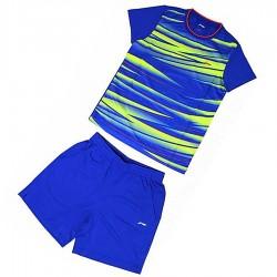 【LI-NING】AATM004-4藍色兒童專業羽球比賽服套裝