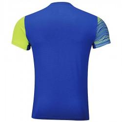 【LI-NING】李寧AAYM077-3螢黃藍波浪雙色男款專業羽球服