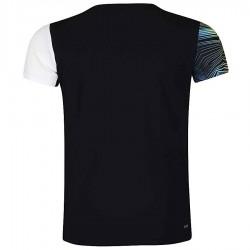【LI-NING】李寧AAYM077-5白黑漸層波浪雙色男款專業羽球服