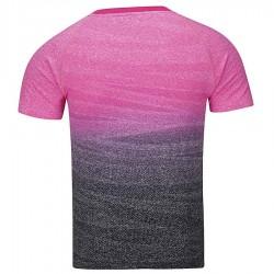 【LI-NING】李寧AAYM151-2粉黑漸層一體成形雙色男款專業羽球服