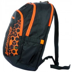 【LI-NING】ABJN014-1橘黑幾何圖案多功能後背包