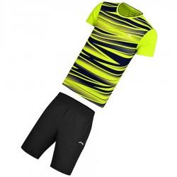 【LI-NING】AATM004-3螢綠兒童專業羽球比賽服套裝