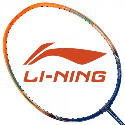 【LI-NING】WS-72藍橘超輕6U超高磅30磅攻擊羽球拍