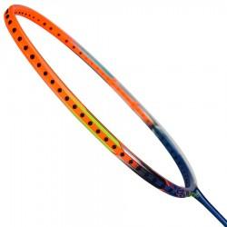 【LI-NING】WS-72藍橘 6U超輕30磅極速攻擊羽球拍