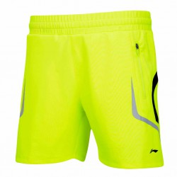 【LI-NING】李寧AAPJ271-3專業羽球比賽短褲螢光綠(男款)