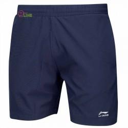 【LI-NING】李寧AAPJ307-1經典羽球短褲深藍