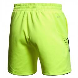 【LI-NING】李寧AAPK083-3專業羽球比賽短褲螢光綠(男款)