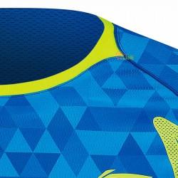 【LI-NING】李寧AAYM001-2無領設計超服貼剪裁羽球潮T迷彩藍(男款)