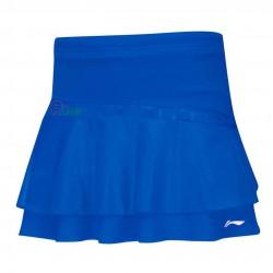 【LI-NING】李寧ASKK042-4雙層荷葉立體剪裁比賽級褲裙