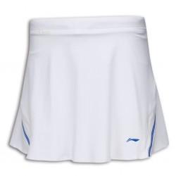 【LI-NING】李寧ASKK046-1專業羽球比賽褲裙白