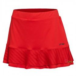 【LI-NING】李寧ASKL012-1吸濕排汗魅力紅比賽級褲裙