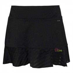 【LI-NING】李寧ASKL042-2黑 雙層荷葉立體剪裁比賽級褲裙(零碼)
